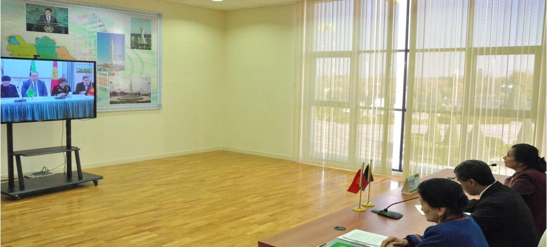 Между дипломатическими учебными заведениями Туркменистана и Кыргызской Республики состоялась онлайн-конференция