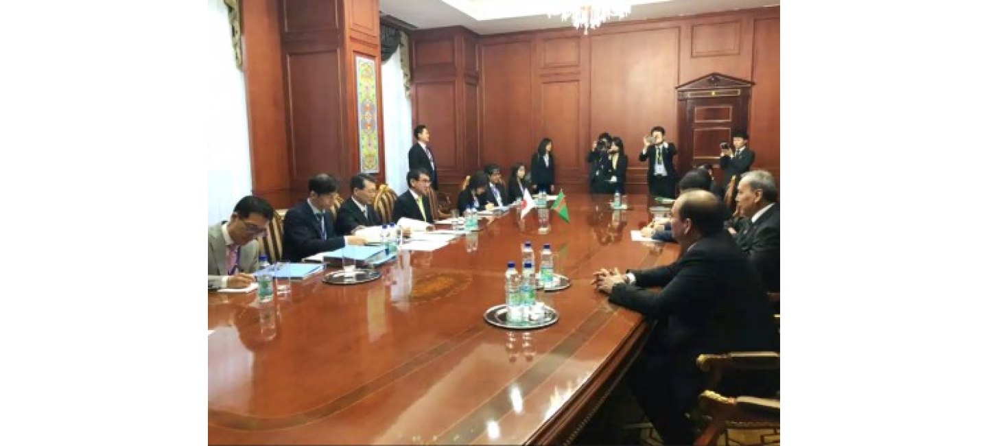 MEETING OF THE DELEGATIONS OF TURKMENISTAN AND JAPAN HELD IN DUSHANBE